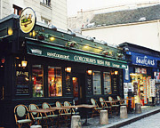 Cafes Art - Paris Montmartre Irish Pubs Restaurant Cafe - Corcorans Irish Pub Cafe Montmartre District by Kathy Fornal