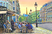 Paris Nights Print by David Linton