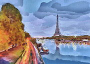 Paris Digital Art - Paris Nights by Yury Malkov