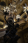 Photography Of Lamps Photos - Paris Opera House - Paris Palais Garnier - Paris Palais Garnier Opera House - Chandeliers Decor by Kathy Fornal