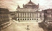 Angels Drawings - Paris Opera by Logan Cole