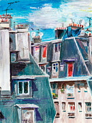 Montmartre Paintings - Paris Ordener Str by Tatiana Ivchenkova