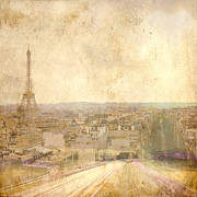 Abstracted Mixed Media Originals - Paris Parkway II by Andrew Sullivan