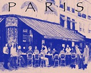 European Cafes Digital Art Prints - Paris poster 3 Print by J Reifsnyder