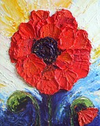 Paris Wyatt Llanso Posters - Paris Red Poppy Poster by Paris Wyatt Llanso