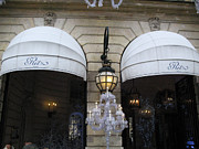 Paris Art Deco Prints Photos - Paris Ritz Hotel Canopies Art Deco and Art Nouveau by Kathy Fornal