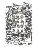 Rue Drawings - Paris by Ron Torborg