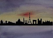 Sillouette Originals - Paris Skyline by Donna Walsh