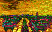 Invalids Prints - Paris skyline pop art Print by Eti Reid