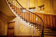 Wooden Stairs Posters - Paris Staircase Poster by Brian Jannsen