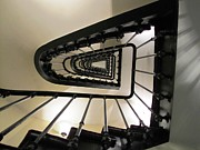 Flight Of Stairs Photos - Paris Stairwell by Jeanne Porter
