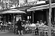 Cafe Terrace Posters - Paris Street Cafe - Le Malakoff Poster by Georgia Fowler