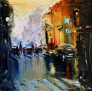 David Figielek Prints - Paris street Print by David Figielek