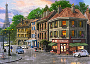 Paris Digital Art Prints - Paris Street Print by Dominic Davison