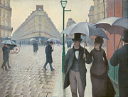 Famous Artists - Paris Street in Rainy Weather by Gustave Caillebotte