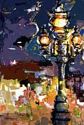 Ginette Callaway - Paris Street Lights Modern Abstract