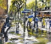 Randy Sprout - Paris Street Sketch in...