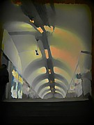 Tunnels Framed Prints - Paris Subway Tunnel Framed Print by John Malone