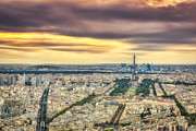 Drama Photographs Prints - Paris Sunset Print by Wellington  Goulart