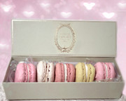 Bakery Art - Paris - The Laduree Tea Shop and Patisserie - Dreamy Laduree Box of French Macarons  by Kathy Fornal