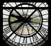 Museum Orsay Clock Posters - Paris Time Poster by Ann Horn