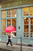 Bookstore Framed Prints - Paris Umbrella Framed Print by Brian Jannsen