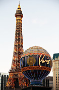 The Strip Framed Prints - Paris Vegas Casino Framed Print by John Rizzuto