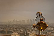 Business Pyrography - Paris view with la Defense. by Artur Debat