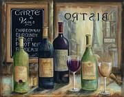 Paris Wine Tasting Print by Marilyn Dunlap