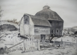 Pasture Painting Posters - Parish Barn Poster by Lee Stockwell