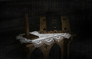 Table Cloth Mixed Media Metal Prints - Parish Church Book Metal Print by Svetlana Sewell