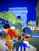 Champs Elysees Framed Prints - Parisian Artist Framed Print by Chuck Staley