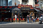 Parisian Cafe Le Conti Print by RicardMN Photography