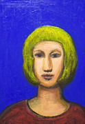Parisienne Painting Framed Prints - Parisienne with a bob haircut Framed Print by Kazuya Akimoto