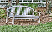 Northwest Florida Posters - Park Bench Poster by Scott Pellegrin