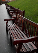 Park Benches Prints - Park Benches Print by John Bailey