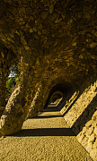 Parc Guell Prints - Park Guell Archways Print by Deborah Smolinske