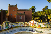 Parc Guell Prints - Park Guell Bench Print by Deborah Smolinske