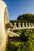 Parc Guell Prints - Park Guell Fountain Print by Deborah Smolinske