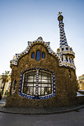 Parc Guell Prints - Park Guell Lodge Print by Deborah Smolinske