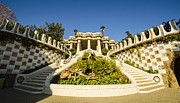 Parc Guell Prints - Park Guell Stairway Print by Deborah Smolinske