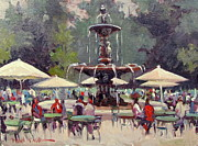 Dianne Panarelli Miller Prints - Park St Cafe Print by Dianne Panarelli Miller