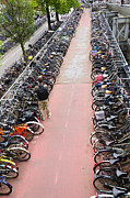 Amsterdam Photos - Parked Bikes by Oscar Gutierrez