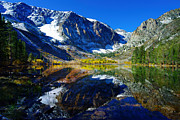 Alpine Lake Framed Prints - Parker Lake California in Fall Framed Print by Scott McGuire