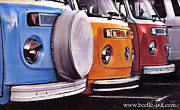 Volkswagen Pastels Prints - Parking bays Print by Art Haus Ink
