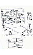 Sketches Drawings Originals - Parking Lots by Samuel Zylstra