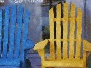 Rocking Chairs Digital Art - Parking Spot by Jeff Kolker