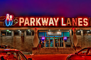League Framed Prints - Parkway Lanes Framed Print by Anthony Sacco
