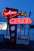 Old Signage Prints - Parkway Motel Print by Matthew Bamberg