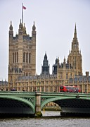 Bus Photo Originals - Parliament and the double-decker by Matt MacMillan